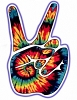 Tie Dye Peace Hand Sticker