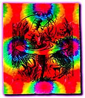 Alice In Wonderland Tie Dye Tapestry