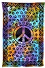 All Over Peace Print Tie Dye Tapestry