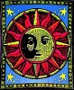 Aztec Sun Blacklight Tapestry