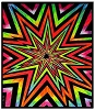 Cosmic Blast Blacklight Tapestry Wall Hanging