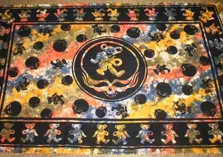 Grateful Dead Dancing Bear Tapestry From Sunshine Daydream
