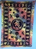 Grateful Dead - Dancing Bears Indian Print Tie Dye Tapestry