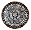 Elephant Jungle Groove Round Tapestry