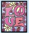Love Blacklight Tapestry Wall Hanging