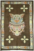 Sacred Owl Tapestry Wall Hanging