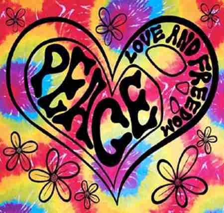 Peace Love Amp Freedom Tie Dye Tapestry