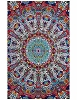 Psychedelic Sunburst 3D Glow in the Dark Tapestry