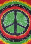 Rasta Tie Dye Peace Sign Tapestry