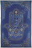 Blue Hamsa Hand Tapestry Wall Hanging