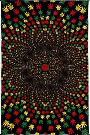 Weed Vortex 3d Tapestry Wall Hanging