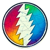Grateful Dead - Rainbow Bolt Round Sticker