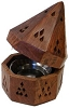 Wooden Temple Cone Incense Burner