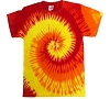 Blazing Fire Adult Tie Dye T-Shirt