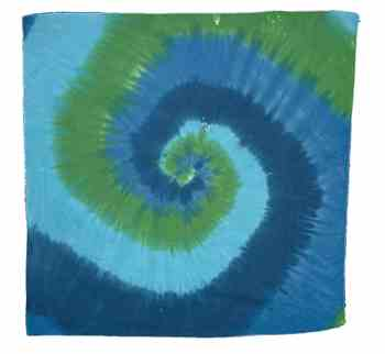 How to Tie Dye Shirt Designs : Double Spiral Pattern for