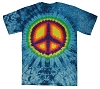 Blue Peace Tie Dye Adult T-Shirt