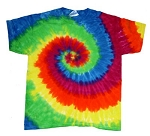 Rainbow Spiral Youth Tie Dye T-Shirt