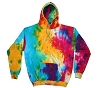 Multi Color Tie Dye  Adult Hoodie