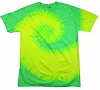 Fluorescent Lime & Yellow Tie Dye T-Shirt
