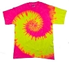 Neon Pink & Yellow Tie Dye T-Shirt