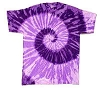 Spiral Purple Youth Tie Dye T-Shirt