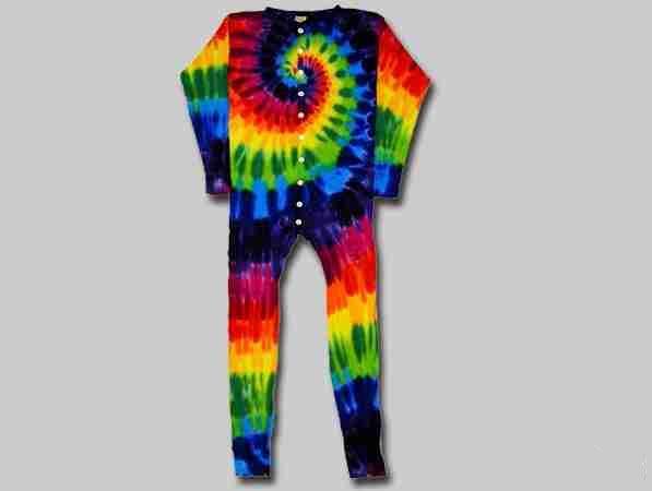 Rainbow Tie Dye Union Suit