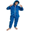Spider Blue Tie Dye Fleece Adult Onesie
