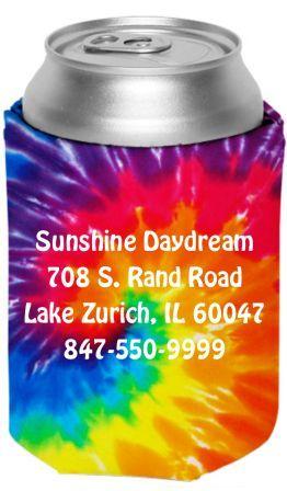 Tie Dye Can Koozie From Sunshine Daydream