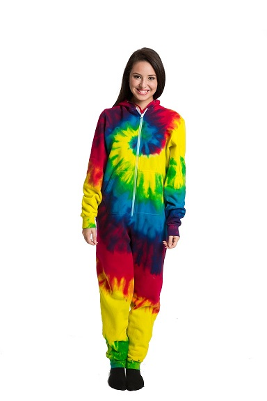 Tie Dye Fleece Onesie For Adults At Sunshine Daydream Chicago