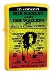 Bob Marley -  In Concert Yellow Zippo Lighter