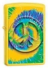 Tie Dye Yellow Peace Zippo Lighter