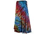 Tie Dye Rayon Long Bell Wrap Skirt