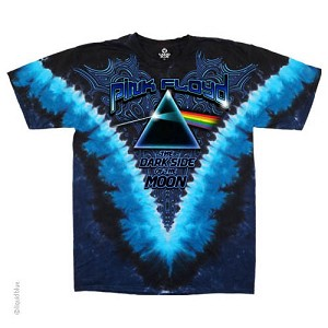 Pink Floyd - Psychedelic Swirls Tie Dye Dark Side of the Moon T-Shirt