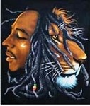 Bob Marley - Lion Profile Tapestry