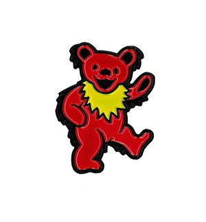 Grateful Dead - Red Dancing Bear Enamel Pin