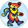 Grateful Dead - Tie Dye Bear Button