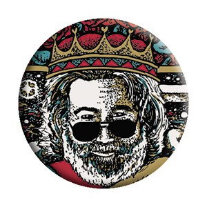Jerry Garcia - King Card Button