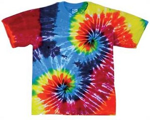 Double Rainbow Spiral Tie Dye T-Shirt