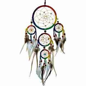 Leather Rainbow Dreamcatcher