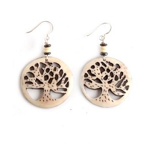 Tree of Life Bone Earrings