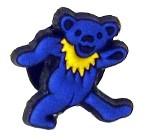 Grateful Dead - Blue Bear Croc Button