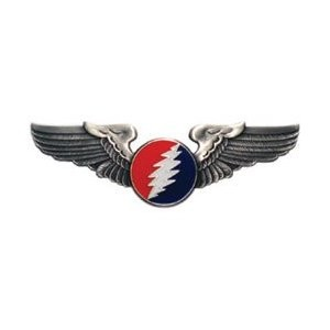 Grateful Dead - Round Bolt Small Pilot Wings Pin