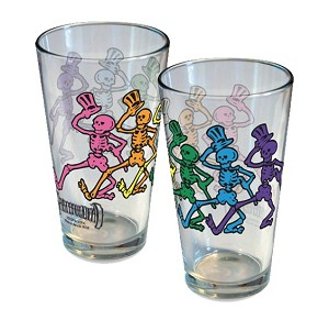 Grateful Dead - Dancing  Skeletons Pint Glass