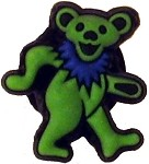 Grateful Dead - Green Bear Crocs Button