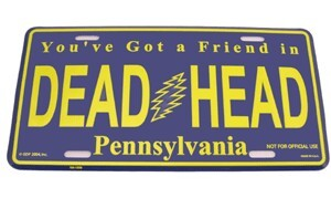 Grateful Dead - Pennsylvania License Plate