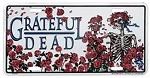 Grateful Dead - Skeleton & Roses License Plate