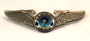 Grateful Dead - Large Skull & Roses Pilot Wings