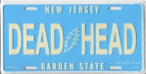 Grateful Dead - New Jersey License Plate
