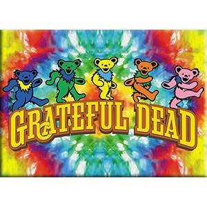 Grateful Dead - Dancing Bears on Tie Dye Magnet