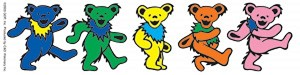 Grateful Dead - Row of Dancing Bears Sticker